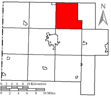 Location of Hoaglin Township in Van Wert County