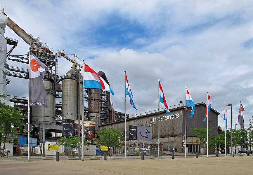 The blast furnaces of Belval on national holiday