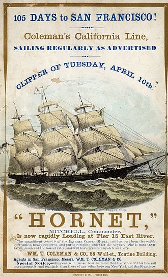 International relations of the Great Powers (1814–1919) - Hornet – an American clipper ship of the 1850s.