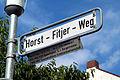 Horst-Fitjer-Weg Straßenschild Hannover Nordstadt 1921-1998 FDP-Stadtrat Bürgermeister Geschäftsführer Kreishandwerkerschaft.jpg