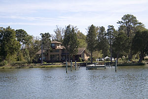 Mathews County, Virginia - Typical waterside scene in Mathews County