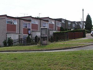 Birley - Long since demolished council housing on the Scowerdons estate.