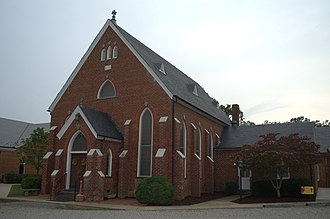 National Register of Historic Places listings in Chesterfield County, Virginia - Image: Huguenot Springs Bethel Baptist Church