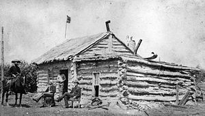 Humboldt, Saskatchewan - Humboldt Telegraph Station (circa 1885)