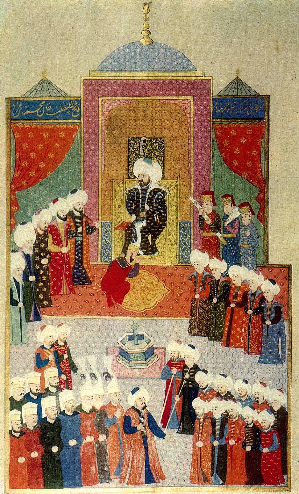 Hunername accession Mehmed II