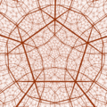 Hyperbolic orthogonal dodecahedral honeycomb.png