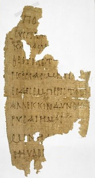 Sub tuum praesidium - Earliest known manuscript of Sub tuum praesidium in Greek, dated between 3th to 4th centuries.