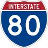 Interstate 80 shield marker