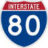 Interstate 80 marker