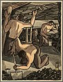 INF3-156 Coal miners at work, cutting coal and propping Artist George Bissill.jpg