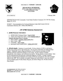 ISN 00109, Yusef A. Saleh's Guantanamo detainee assessment.pdf