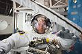 ISS-48 Jeff Williams during spacesuit check for EVA-1.jpg