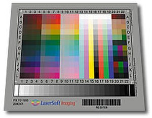 Color calibration - An IT8.7 Target by LaserSoft Imaging