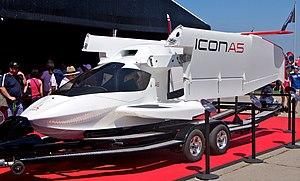 ICON A5 - ICON A5 with its wings folded for transport