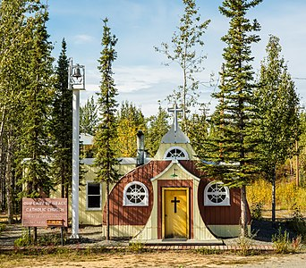 Our Lady of Grace church, Beaver Creek, Yukon, Canada