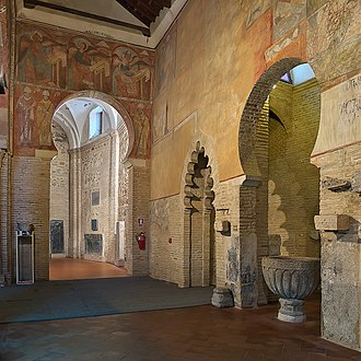 Iglesia de San Román, Toledo - Image: Iglesia de San Román (Toledo). Nave de la Epístola, pinturas