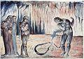 Illustrations to Dante's Divine Comedy, object 56 (Butlin 812-53 recto) The Serpent Attacking Buoso Donati.jpg