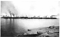 Image of lake freighters from Curwood's 1909 The Great Lakes -aw.png