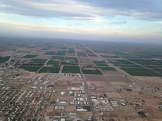 Imperial, California - Aerial over Imperial/HWY 86