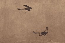 Two planes flying