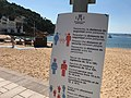 Informació sobre les mesures COVID-19 a la platja de Tamariu 04.jpg