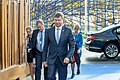 Informal meeting of economic and financial affairs ministers (ECOFIN). Arrivals Valdis Dombrovskis (37083553852).jpg