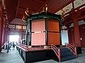 Interior of Daigokuden, Heijo palace, with Black Tortoise.jpg