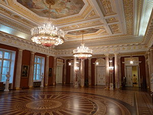 Tsaritsyno Park - Smaller hall inside of the grand palace
