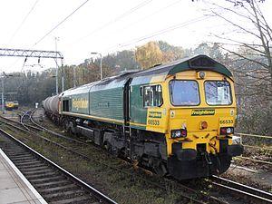 Ipswich depot - Freightliner 66533 with fuel train.jpg