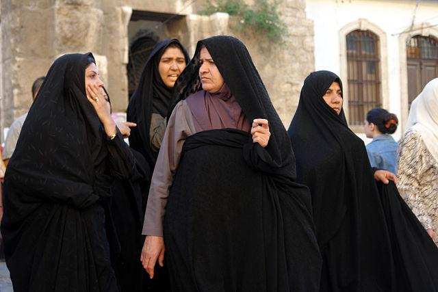 Iranian pilgrims at the Shrine of Zaynab near Damascus