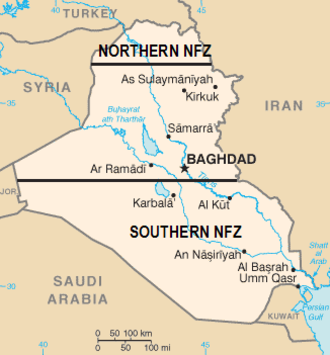 Iraqi no-fly zones - Image: Iraq NO FLY ZONES