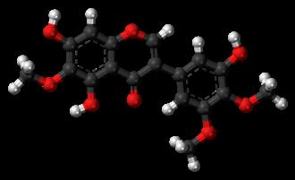 Irigenin - Image: Irigenin 3D balls
