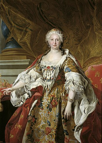 Elisabeth Farnese - Portrait by Louis-Michel van Loo, 1739