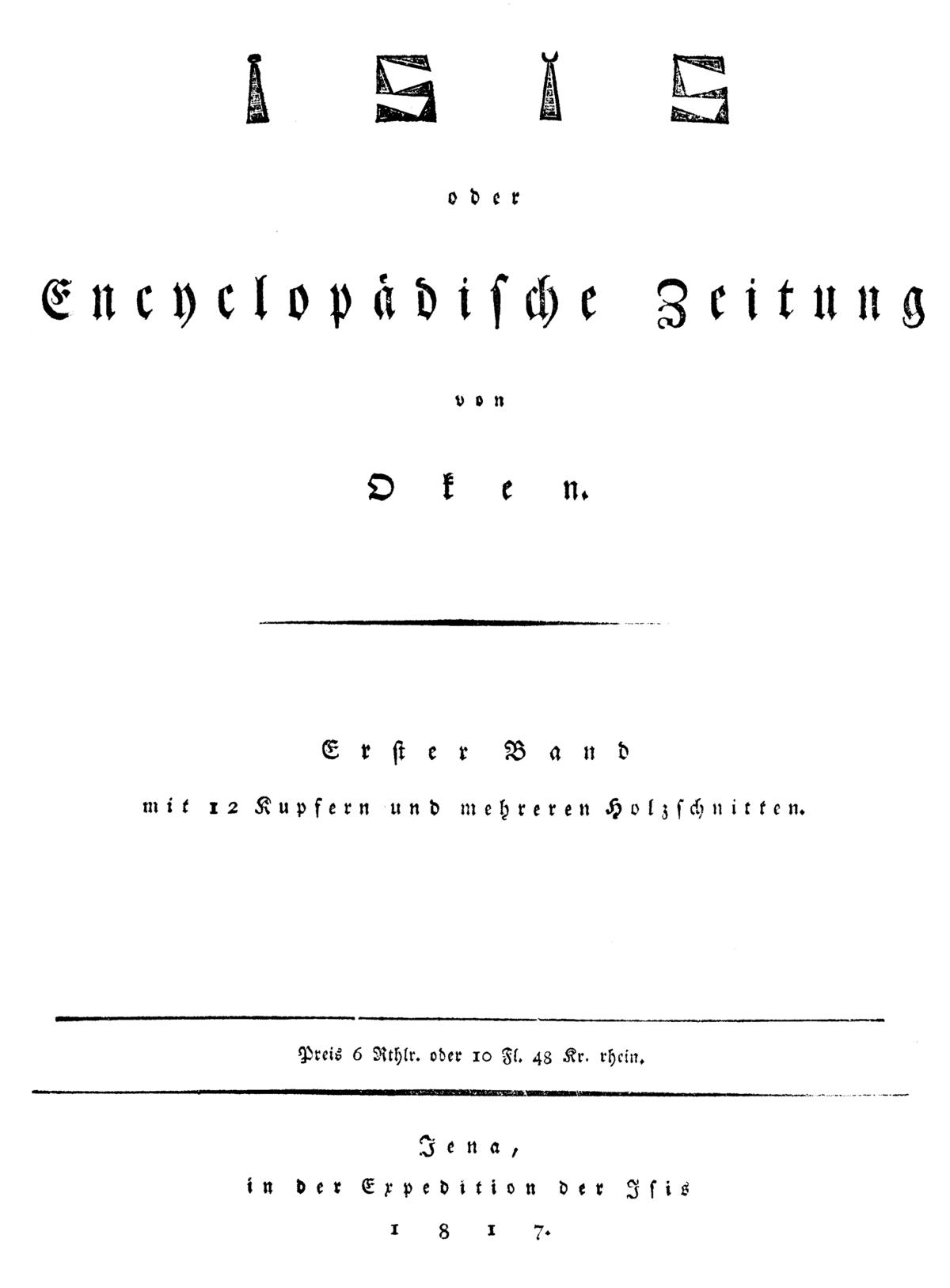 Isis (Zeitschrift, 1816) – Wikipedia