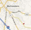 Islamic Center of Murfreesboro locator map.png