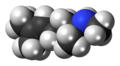 Isometheptene molecule spacefill.png