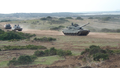 Italian Army 132nd Tank Regiment Ariete main battle tanks during an exercise.png