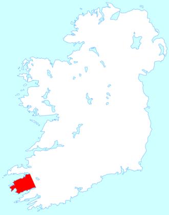 Iveragh Peninsula - Location map of the Iveragh Peninsula