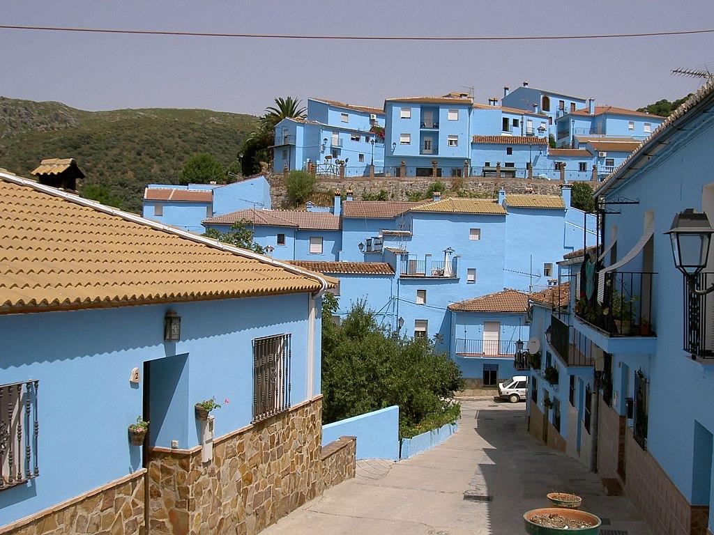 Júzcar Málaga Andalusia Spain smurf town