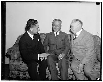 Sergio Osmeña - Joaquín Miguel Elizalde, Sergio Osmeña and John W. Hausermann, ca. 1938 or 1939, U.S. Library of Congress