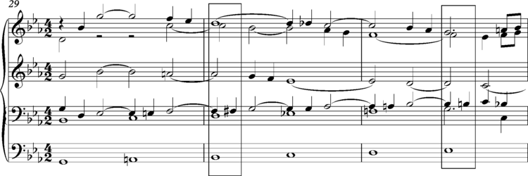 J.S.Bach, Ricercar a 6 from the Musical Offering bars 29-31 J.S.Bach, Ricercar a 6 from the Musical Offering bars 29-31.png