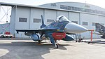 JASDF F-2A(43-8527) right front view at Komaki Air Base March 13, 2016 02.jpg