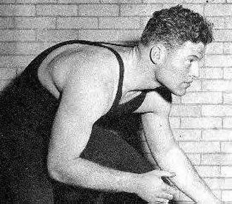 Jack Riley (American football) - Jack Riley as a wrestler for Northwestern University