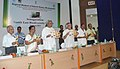 Jairam Ramesh and the Chief Minister of Odisha, Shri Naveen Patnaik releasing brochures on North East Biodiversity Gallery of the Regional Museum of Natural History, in Bhubaneswar on June 01, 2011.jpg