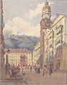 Jakob Alt - Blick auf das Goldene Dachl in Innsbruck - 1845.jpeg