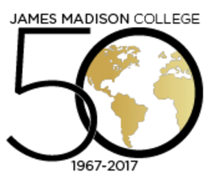 James Madison College - JMC 50th logo
