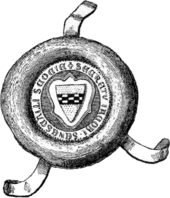 Black and white illustration of a mediaeval seal