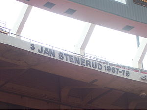 Jan Stenerud - Stenerud's name in the Chiefs' ring of honor at Arrowhead Stadium