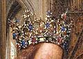 Jan van eyck, madonna in una chiesa, 1440 ca. 04 (cropped).JPG