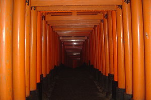 The torii at Fushimi Inari Jinja